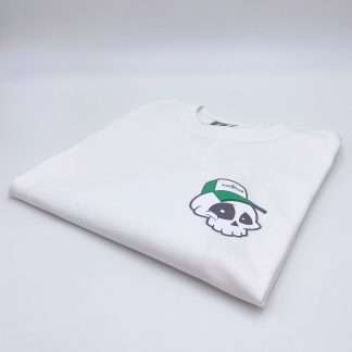 Lucked-Out-Laces-Skull-Boy-T-Shirt-White-Regular-Fit-Green-Grey